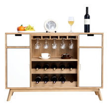 Sideboard kitchen storage cabinet solid wood Nordic wine cabinet wine glass aparador mueble cupboard furniture sale 122*62*47cm(China)