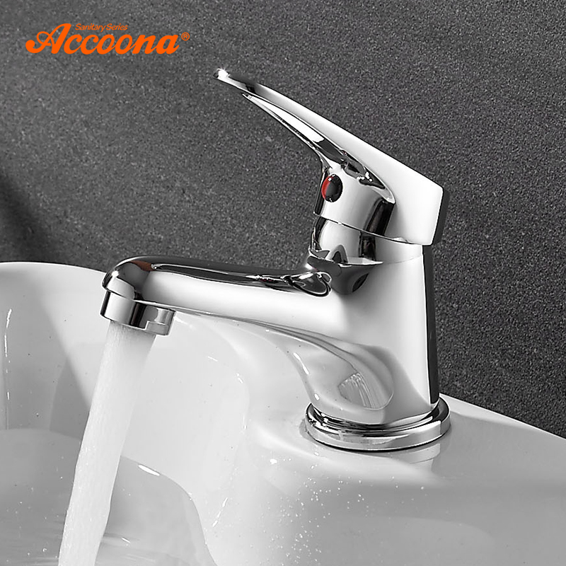 Accoona Small Basin Faucet Tap Mixer Finish Brass Vessel Stylish Sink Water Chrome Basin Faucets Modern Waterfall Faucets ledeme basin faucets basin faucet tap mixer finish brass vessel stylish sink water chrome modern waterfall faucets l1013