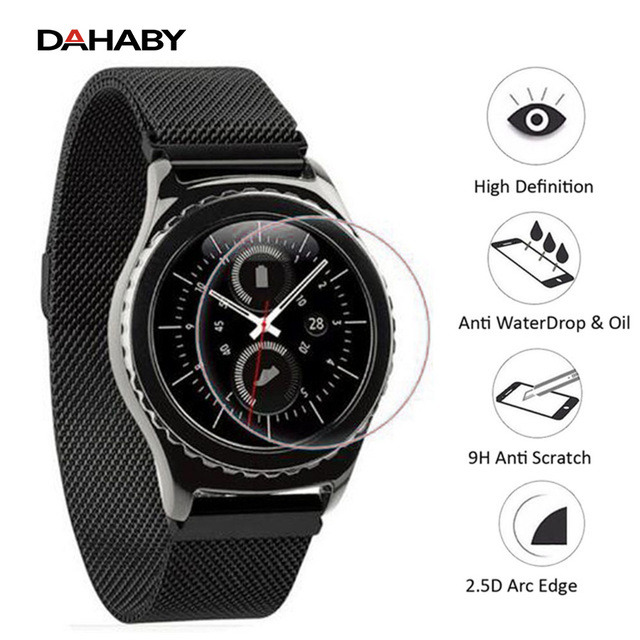 DAHABY For Samsung Gear S3 Classic LTE Front Screen Protector 9H Antiscratch Tempered Glass HD Clear