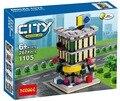 Original Decool 1105 lepin casa cidade modelos compatível Mini Cena Cidade conjuntos de modelos 267 pcs blocos de Construção de peças Conjunto de Brinquedos