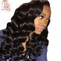 Свободная Волна Полные Парики Шнурка Для Чернокожих Женщин Девы Перуанская Человеческого Волоса Парик Фронта шнурка С Ребенком Волосы 8А Full Lace Человеческих Волос, Парики