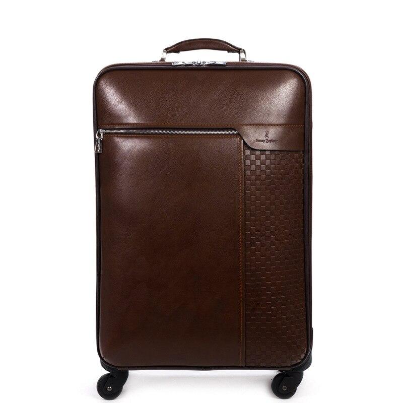 Aliexpress.com : Buy Genuine leather luggage 18/20/22/24/26 inch ...