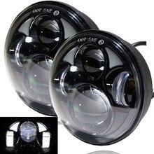 """5.75 """"할리 오토바이 액세서리에 대 한 4D 라운드 프로젝터 렌즈 LED 헤드 라이트 10V 30V 40W 할리 Sportster XL 883/xl에 대 한"""