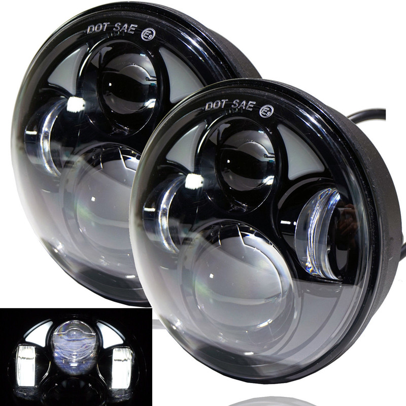 5.75″ Harley Motorcycle Accessories 4D Round Projector Lens LED Headlight 10V 30V 40W For Harley Sportster XL 883/XL