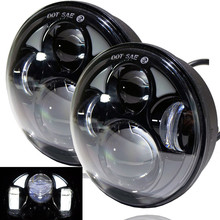"5.75"" for Harley Motorcycle Accessories 4D Round Projector Lens LED Headlight 10V 30V 40W For Harley Sportster XL 883/XL"