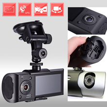 Dual Camera Car DVR R300 with GPS and 3D G-Sensor 2.7″ TFT LCD X3000 Cam Video Camcorder Cycle Recording Digital Zoom