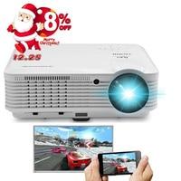 CAIWEI Mirroring Pantalla Smartphone 1080 P LED Proyector Del Teatro Casero TV Película Proyección Teléfono Full HD Inalámbrico WIFI HDMI USB AV