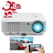 Caiwei смартфон Экран зеркалирование 1080 P светодиодный проектор домашнего кинотеатра ТВ фильм телефон проецирования Full HD Беспроводной WI-FI HDMI USB AV