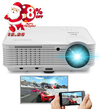CAIWEI Smartphone Screen Mirroring 1080P LED Projector Home Theatre TV Movie Phone Projection Full HD Wireless WIFI HDMI USB AV