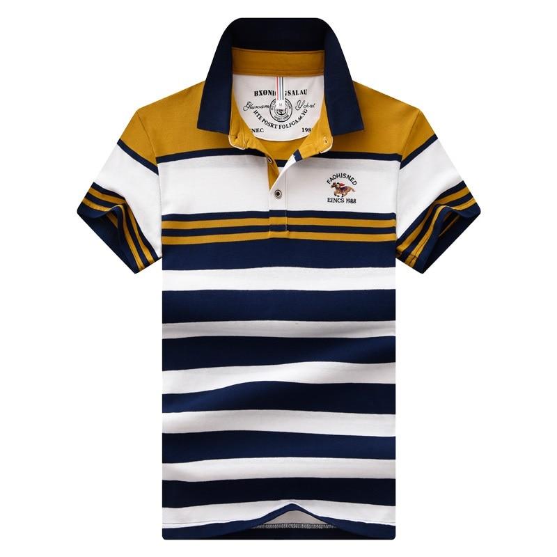 Striped 1988 Embroidery Men's Polo Shirt Eden Park Brand Cotton Shirts Slim Stitching Short Sleeve Polos Size M-4XL;YA255