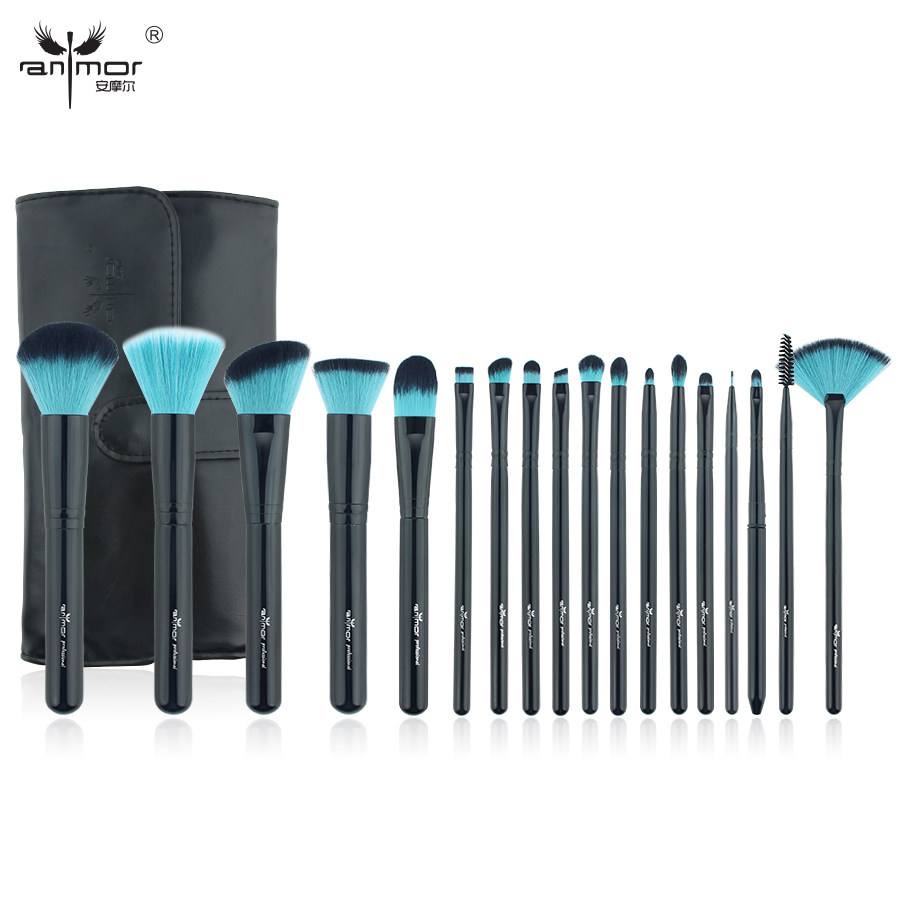 Anmor New Synthetic Makeup Brushes Professional Makeup Brush Set With Black Bag High Quality Makeup Tools BL-001 professional makeup brush set 12pcs high quality makeup tools