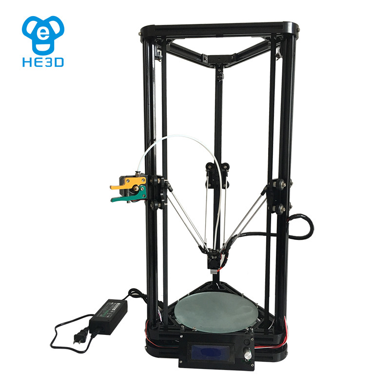 High precision HE3D reprap K200 delta DIY 3D printer kit auto leveling full metal long-distance extruder new upgrade he3d high presicion k200 dual aluminium extruder delta diy 3d printer with heat bed supporting multi filaments%2