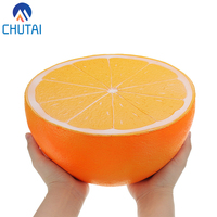 Super Big Jumbo Soft Squishy Orange Watermelon Squishies Slow Rising Toy Kids Fun Collection Squeeze Toys Gift 24*13CM