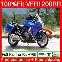 Injection Gloss blue For HONDA VFR1200RR VFR 1200 RR 10 11 12 13 111SH.4 VFR 1200 VFR 1200RR VFR1200 2010 2011 2012 2013 Fairing