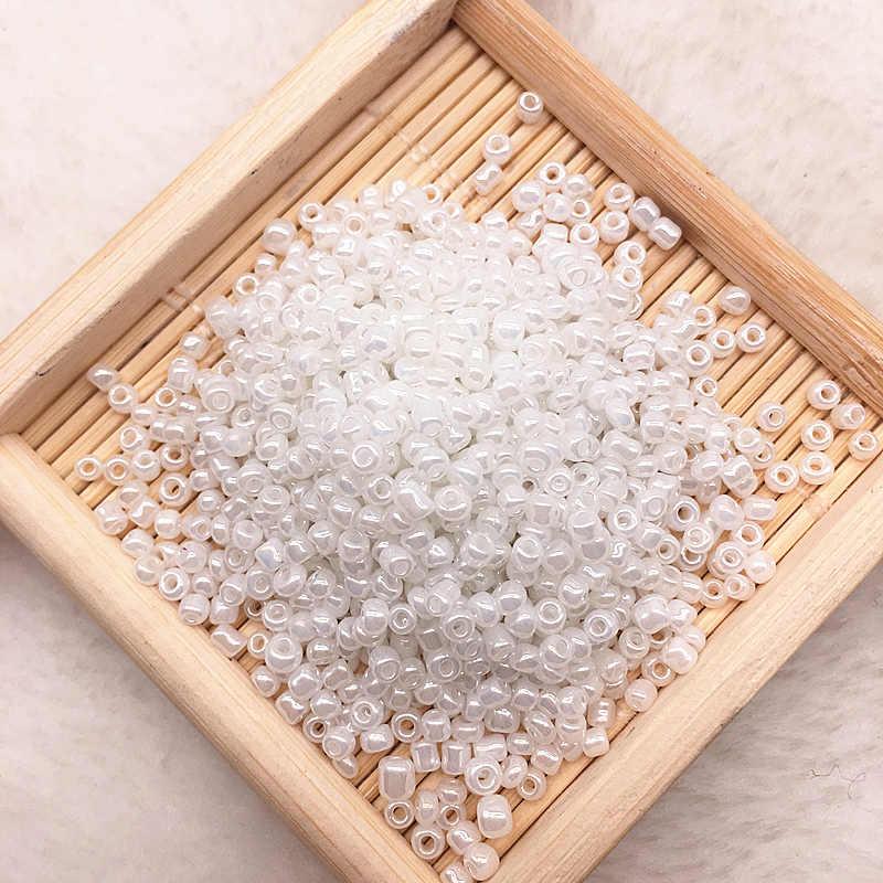 1000 unids/lote (15g) 2mm encanto de cristal checo semilla espaciadora cuentas para hacer joyas manualidades de bricolaje hechas a mano