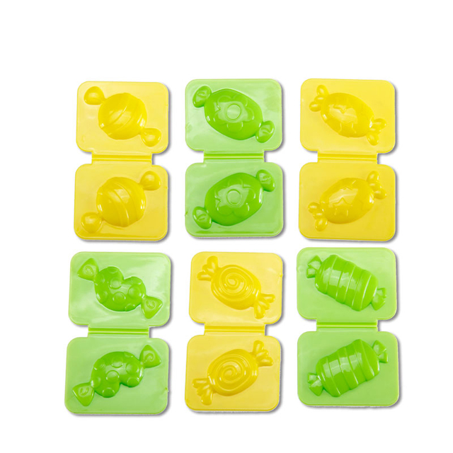 6pcs Candy Mold Color plasticine clay Maker Tool set Creative DIY Play Dough Mold Plasticine Mud kids Educational toys gifts