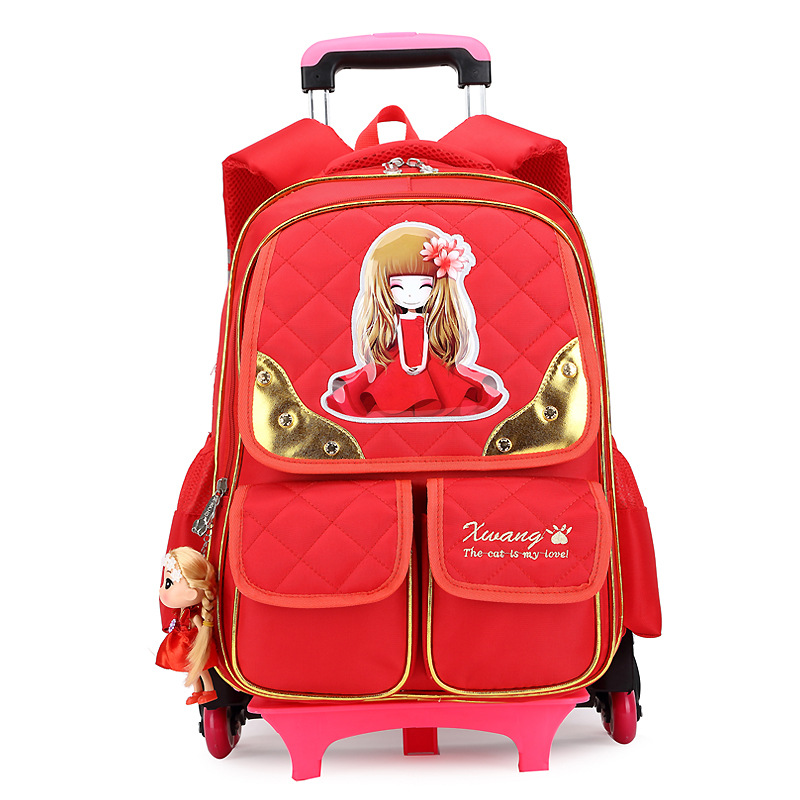 Children School Bags Mochilas Kids Backpacks With Wheel Trolley Luggage For Girls Boys trolley backpack Mochilas detachable hello kitty children school bags mochilas kids backpacks with wheel trolley luggage for girls backpack mochila infantil bolsas