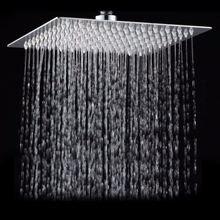 Квадратная ванная комната из нержавеющей стали, дождевая Лейка 12 дюймов, хромированный верхний распылитель высокого давления для душа с дождевой насадкой