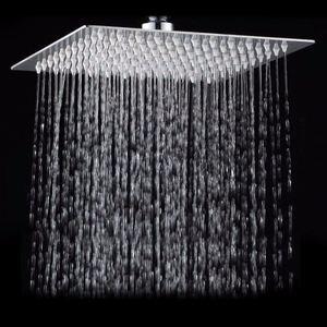 Image 1 - Chuveiro quadrado aço inoxidável chuveiro 12 Polegada, chuveiro quadrado cromado pressão alta pressão chuveiro chuva
