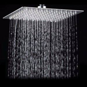 Image 1 - Square Bathroom Stainless Steel Rain Shower Head Rainfall 12 Inch Bath Shower Chrome Top Sprayer High Pressure Rainfall Shower