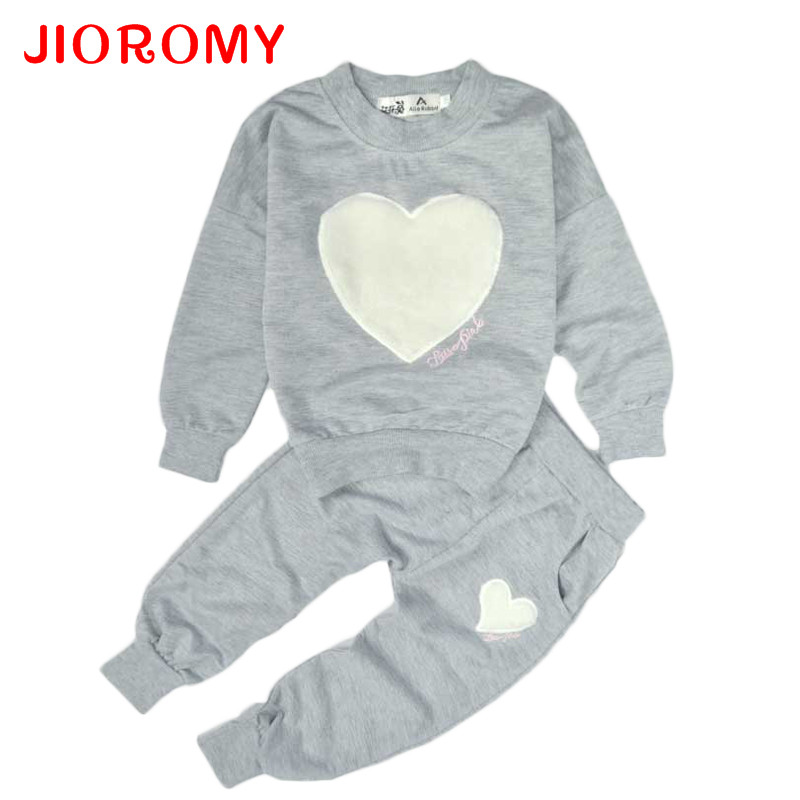 JIOROMY Big Sale Baby Girls Clothing Set Sports Tops+pants Casual Clearance Long Sleeve O-neck Cotton Kids Childrens Clothes