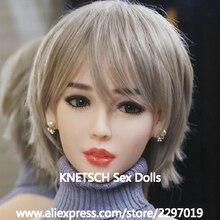 KNETSCH Sex Puppen Kopf Höhe für 140cm ~ 170cm Echt silikon Liebe Puppe Köpfe Mit Oral Neue Sex spielzeug Für Männer echte puppe köpfe
