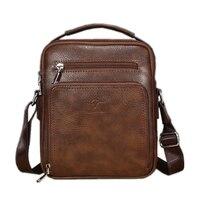 New 2017 Kangaroo Men Bag Famous Brand Leather Men Shoulder Bag Casual Small Messenger Crossbody Bags