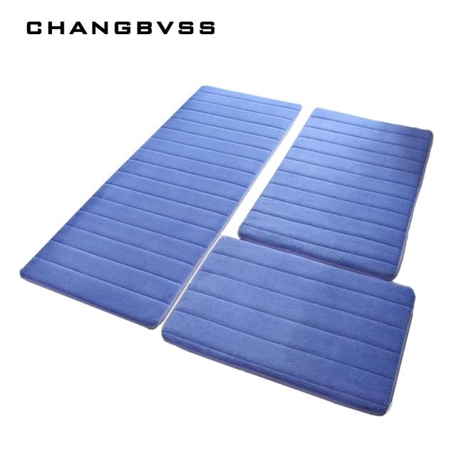 3Pcs/Set Non-Slip Memory Foam Bath Mat Carpet Bedroom Rug Door Way Feet Mats Rugs For Bathroom Alfombra Tapete Para Banheiro Mat