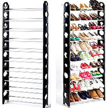 10 Tier Durable Storage Organizer 30 Pair Shoe Tower Rack Free Well-ventilated US Warehouse Drop Shipping Available