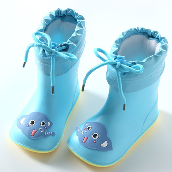 Botas de chuva As Crianças para Meninos Meninas Botas Bonito Botas de Chuva Rainboots sapatos de Água Sapatos De Borracha Crianças Do Bebê À Prova D' Água Não-slip 4 estações