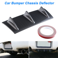 Universal Rear Bumper Lip Diffuser ABS Shark Fin Chassis Deflector for Car DXY88