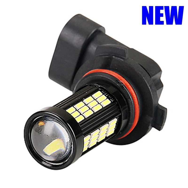 2Pcs NEW H8 H11 Led HB4 9006 H9 Anti Fog Lights 66 LED 1200LM 6000K White Car Driving Running Lamp Auto Leds Bulb 12V