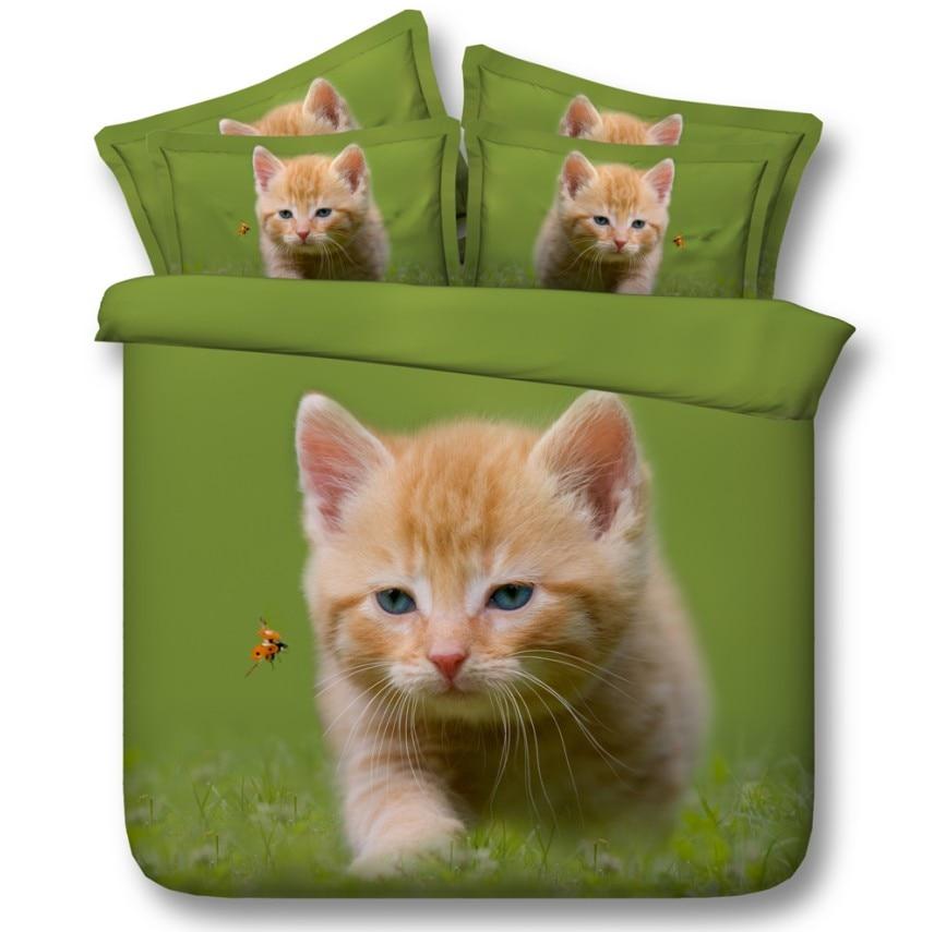Cat Cute Bedding set Kids girls Comforter sets duvet cover bed sheet sheets quilt doona Super ...