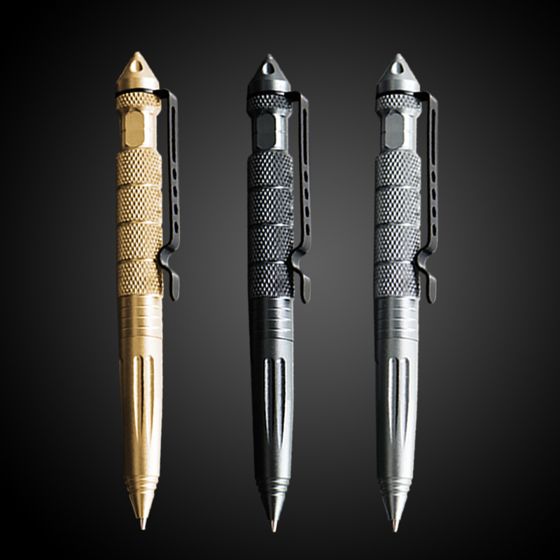 1PCS GENKKY Multi-functional Tactical Tungsten Steel Rotating Unisex Metal Ballpoint