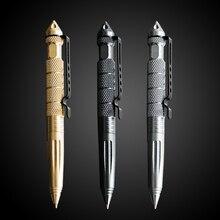 1 шт. GENKKY многофункциональная ручка тактическая Вольфрамовая сталь вращающийся инструмент унисекс ручка оконное стекло металлическая шариковая многофункциональная