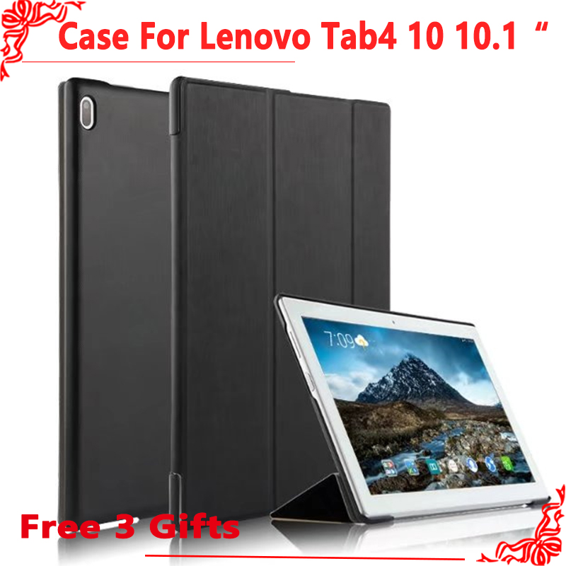 Case For Lenovo Tab4 Tab 4 10 TB-X304L X304F X304N 10.1Case Protective Smart cover + Free Screen Film gifts for lenovo tab