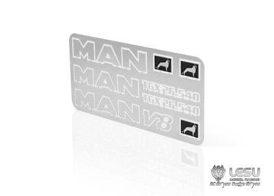 Sammeln & Seltenes Lesu Mann V8 Gtx26.540 Metall Logo Für 1/14 Rc Traktoren Lkw Auto Diy Upgrade Teil Th02273 SchöNer Auftritt Rc-lastwagen
