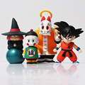 4 unids/lote Dragon Ball Z figuras de acción Goku maestro Roshi Baba grúa ermitaño PVC figura de acción de recogida Sott Vinyl figura