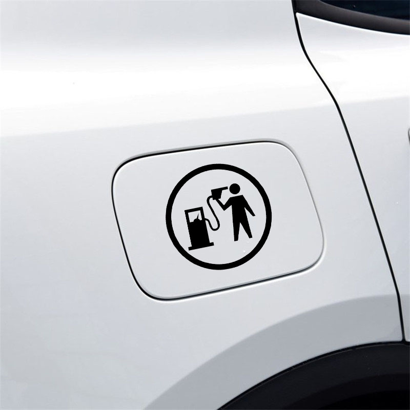 Image 5 - YJZT 12.7CM*12.7CM Car Sticker Funny Vinyl Decal Gas Fuel Black/Silver C3 0743-in Car Stickers from Automobiles & Motorcycles