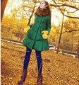 Últimas Mujeres de La Moda de Invierno Las Mujeres Embarazadas chaqueta de pelo Pesado collar Super Caliente Abrigo yardas Grandes Suelta Abrigo Largo Medio G1824
