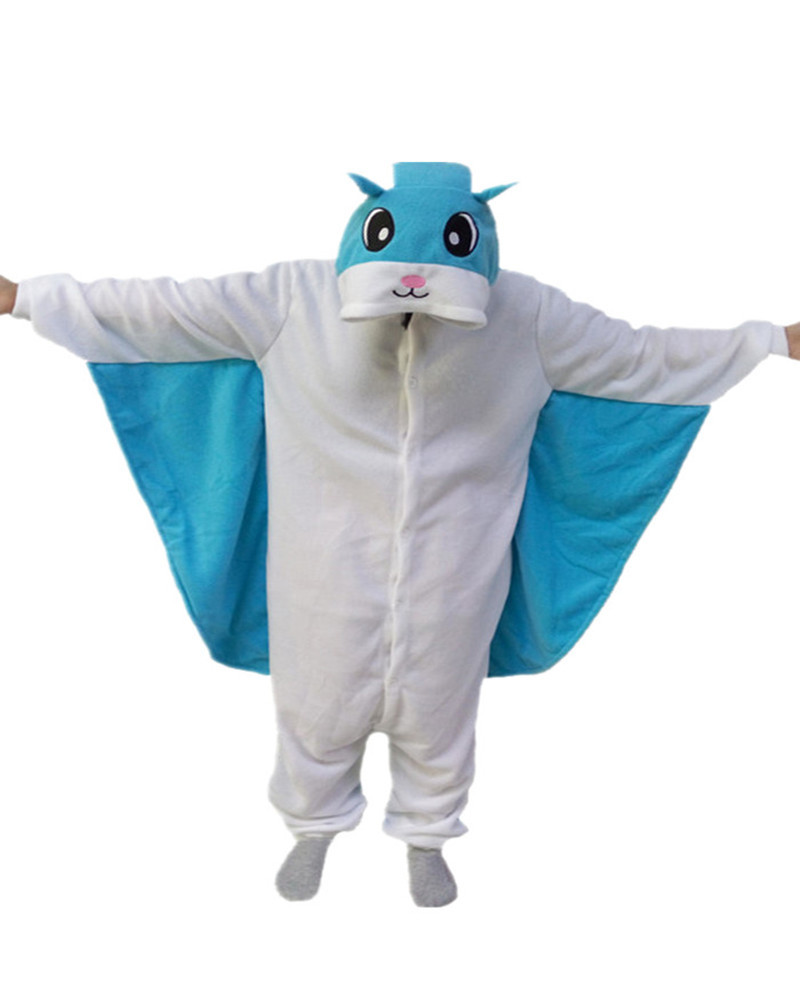 Flying Squirrel Cute Onesie Blue Romper Girls Jumpsuit Pyjamas Nightgowns Women Sleepwear Long Sleeve Size Chinese Market Online