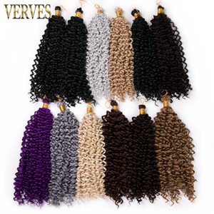 VERVES one piece curly Twist Hair Crochet Braid hair 14inch 100grams/pcs,30strands/pcs Synthetic Braiding Hair extensions