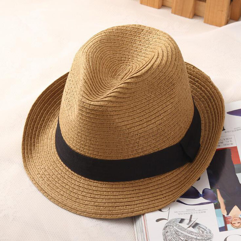 60a0cdfe61c Fashion men fedora straw hats for women man holiday beach summer sun hat  unisex linen trilby Caps Sombreros Hombre Verano cool-in Sun Hats from  Apparel ...
