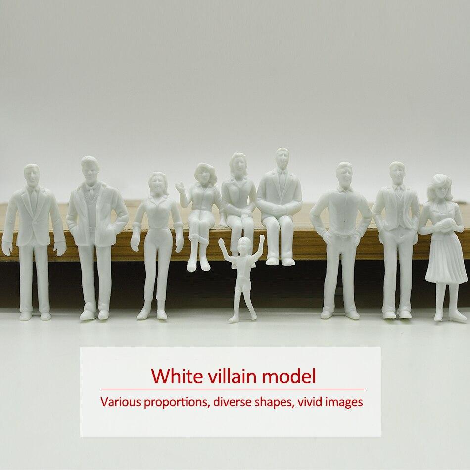 Teraysun 20pcs figuras brancas 1; 25 humano modelo Arquitetônico escala HO modelo plástico ABS pessoas