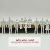 Teraysun 20 piezas figuras blancas 1; 25 modelos arquitectónicos escala humana HO modelo ABS personas de plástico