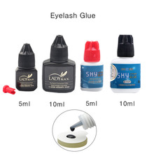 1 Bottle Professional Eyelash Glue Fast Drying False Extension Red Black Cap Sky No Sensitive Lady