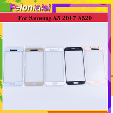 10Pcs/lot For Samsung Galaxy A5 2017 A520 A520F SM-A520F SM-A520F/DS Touch Screen Front Glass Panel TouchScreen Outer Lens цена и фото