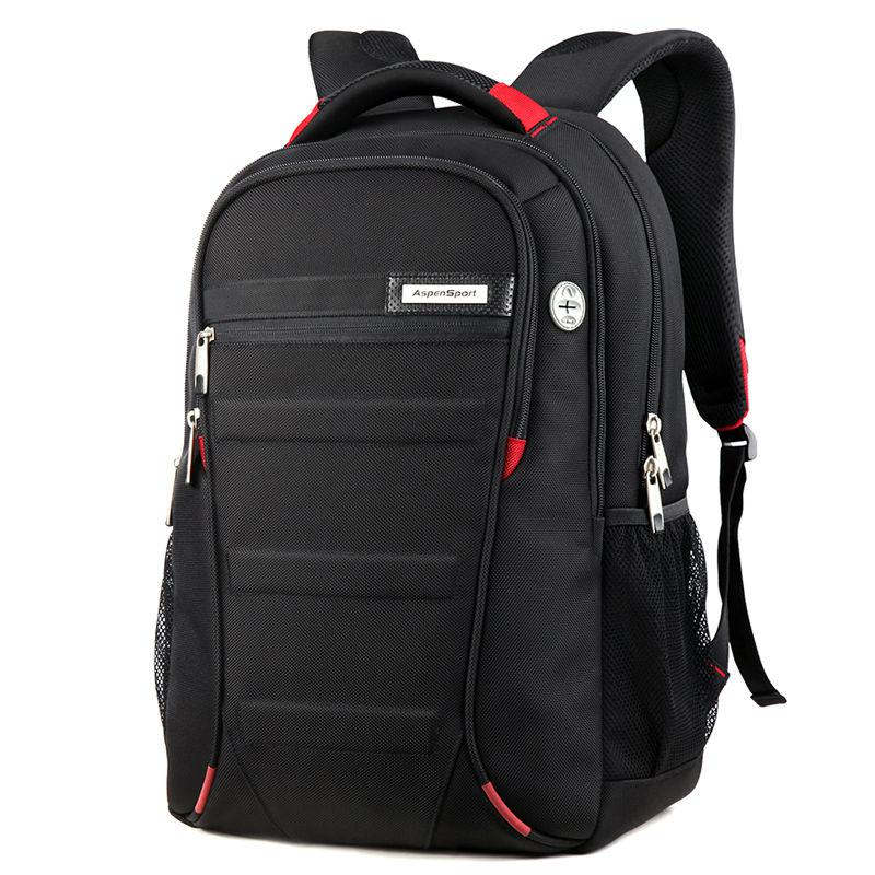ФОТО Men Laptop Backpack 15.6 17 Inch Rucksack School Bag Travel Waterproof Backpack Women Notebook Computer Bag Black
