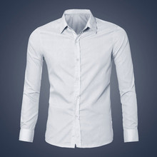 Luxury Charming Men Office Work Shirt Long Sleeve Slim Fit Shirt Spring Autumn Business Suits Casual Men Necessary Shirts