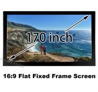 Оптовая продажа; низкая цена HD проекции Экран 170 дюймов 16 х 9 формата DIY фиксированной Рамки Экраны угол обзора 160 градусов